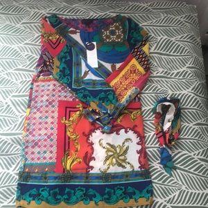 "Hale Bob a-la ""Versace"" pattern dress size S"